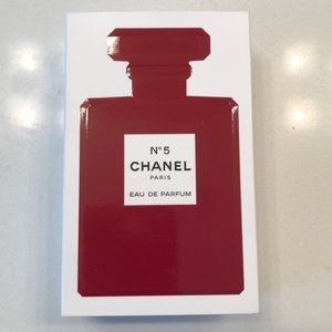 Chanel N5 Red Authentic Empty Box Display Staging